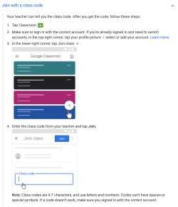 Directions for google classroom from district